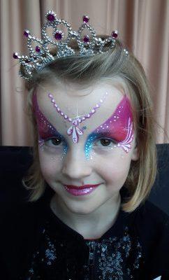 geschminkt als een prinses